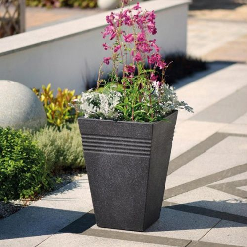 Кашпо Пьяцца (Piazza Square Tall Planter 35cm) гранит